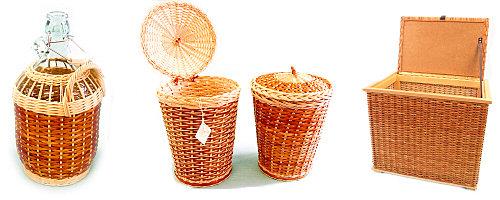výrobky košíkářské dílny
